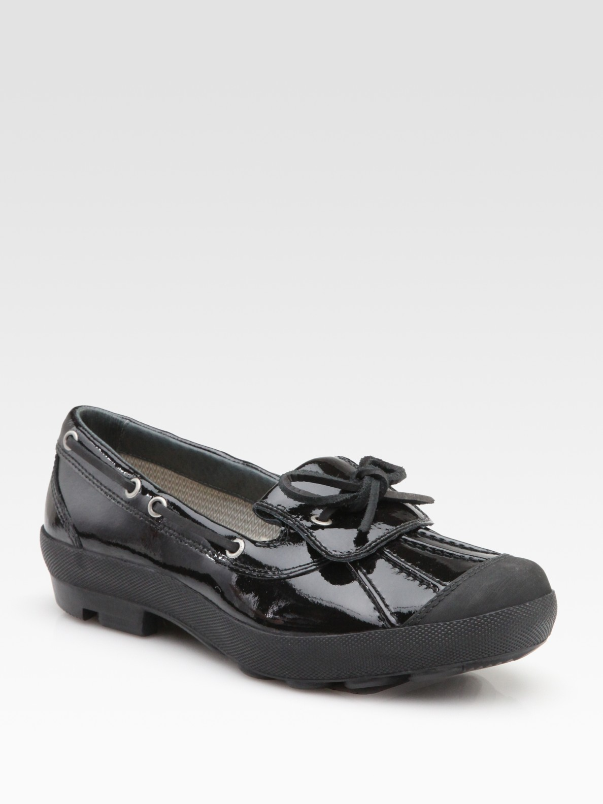 ugg ashdale patent leather rain shoes in black lyst