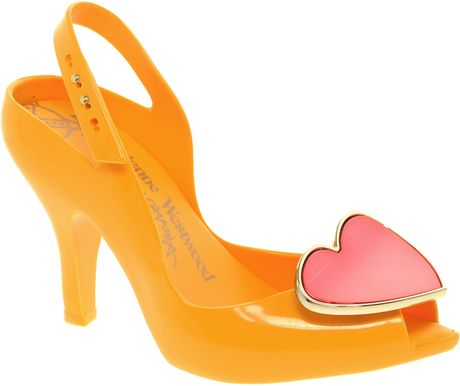 Vivienne Westwood For Melissa Lady Dragon Viii Heeled Sandals in Orange (mangored) - Lyst