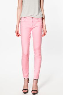 Zara Neon Pop Denim - Lyst