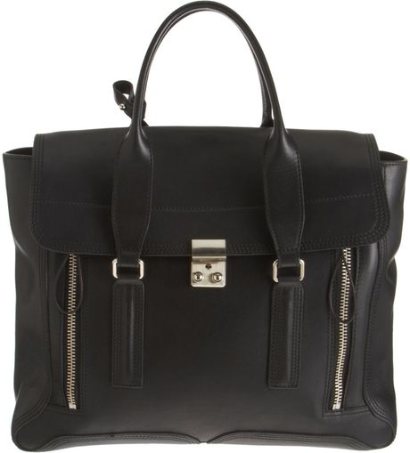 3.1 Phillip Lim Pashli Satchel in Black (silver) - Lyst