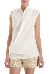 3.1 Phillip Lim Draped Sleeveless Blouse - Lyst