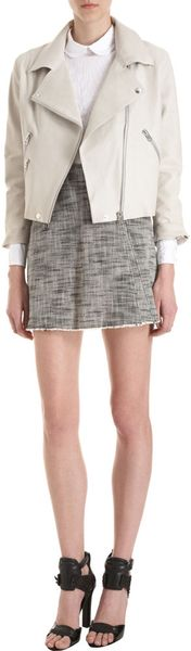 Acne Zip Mini Skirt - Lyst
