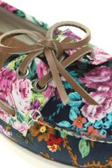 Aldo Aldo Chiou Floral Boat Shoes in Multicolor (navyfloral) - Lyst