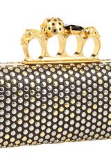 Alexander Mcqueen Knuckle Box Clutch in Black (b) - Lyst