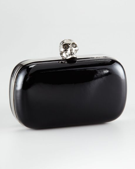 Alexander Mcqueen Classic Skull Box Clutch in Black - Lyst