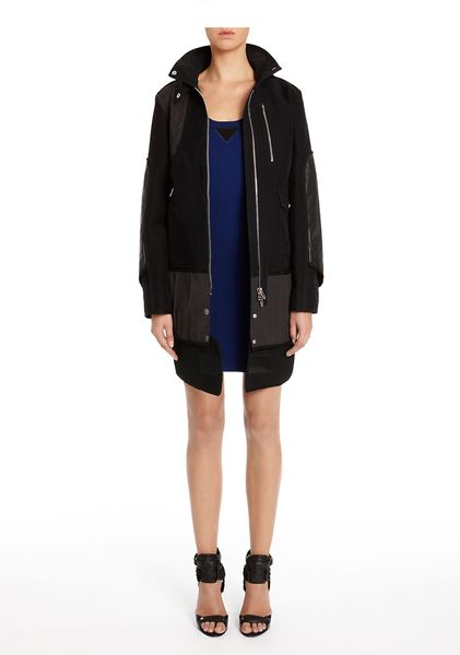 Alexander Wang Utility Overcoat in Black - Lyst