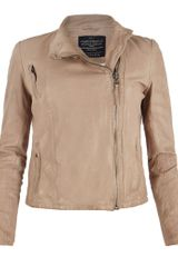 AllSaints Marsh Leather Biker Jacket - Lyst