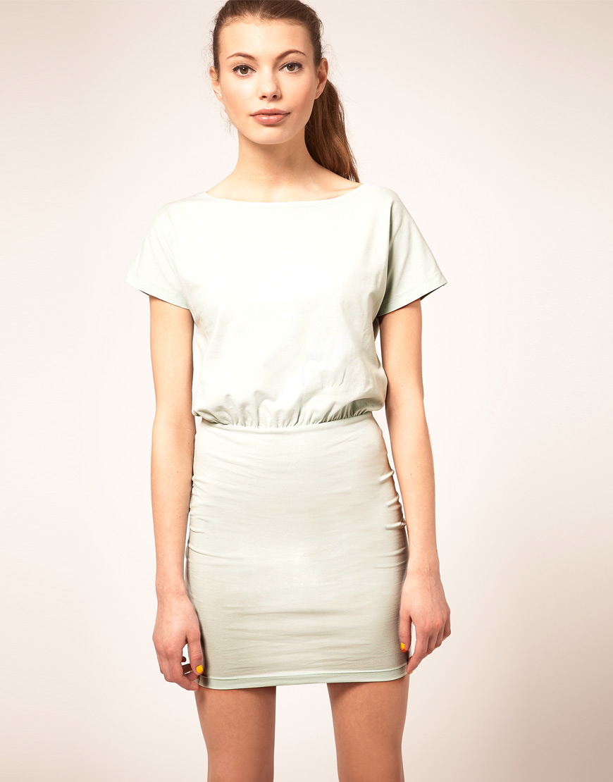 db593826ecc3 Lyst - ASOS Collection Asos T-shirt Dress with Tight Skirt in White