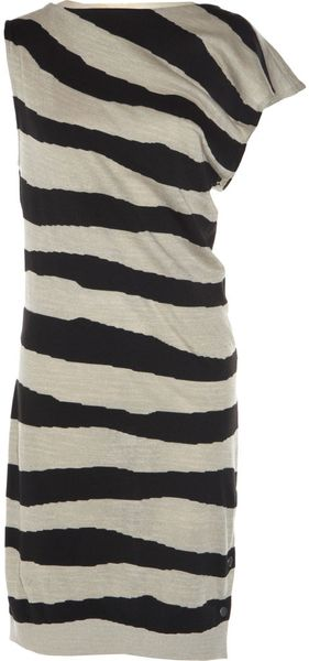 Balenciaga Intarsia Stripe Dress - Lyst