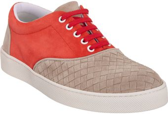 Bottega Veneta Two-tone Low-top Sneaker - Lyst