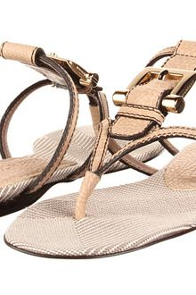 Burberry Check Canvas Jacquard Flat Thong Sandal - Lyst