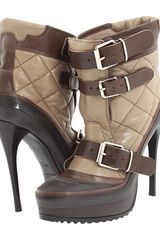 Burberry Quilted Leather Platform Ankle Boot - Lyst