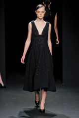 Calvin Klein Fall 2012 Full Skirt Textured Wool Dress - Lyst
