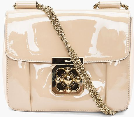 Chloé Beige Elsie Evening Bag in Beige - Lyst