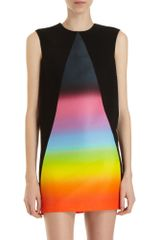 Christopher Kane Rainbow Panel A-line Dress - Lyst