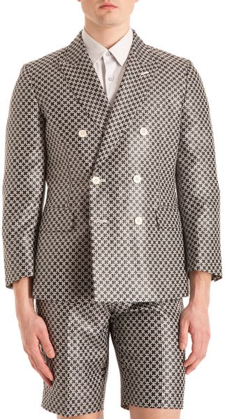 Comme Des Garçons Circle Pattern Sport Jacket in Silver for Men (black) - Lyst
