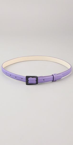 Cut25 Skinny Belt in Purple - Lyst