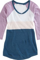 Etoile Isabel Marant Long Sleeve Colorblock Tee in Blue - Lyst