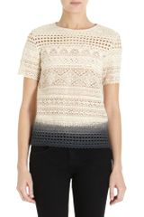 Girl. By Band Of Outsiders Crochet T-shirt - Lyst