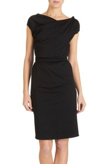 Jil Sander Drape Front Dress - Lyst