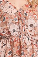 Joie Top Texas Silk Floral in Pink (paprika) - Lyst
