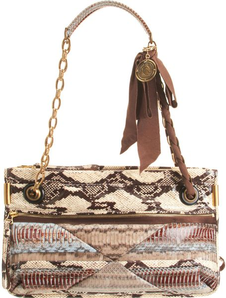 Lanvin Amalia Mm Patch Snake Bag in Multicolor (multi) - Lyst
