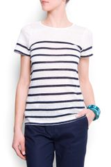 Mango Sailor Linen T-shirt