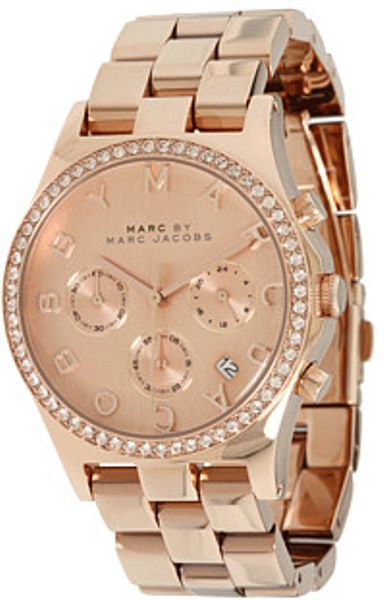Marc By Marc Jacobs Henry Chronograph in Gold (r) - Lyst