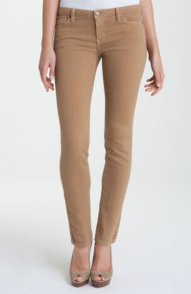 Michael Michael Kors Colored Denim Skinny Jeans in Brown (amber) | Lyst
