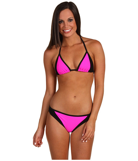 a237d112b7 Lyst - Michael Kors Color Block Scuba Bikini Set in Pink