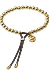 Michael Kors Bead Stretch Bracelet, Golden - Lyst