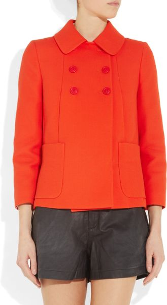 Miu Miu Cotton-twill Swing Jacket in Orange