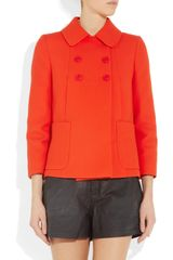 Miu Miu Cottontwill Swing Jacket in Orange - Lyst