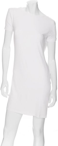 Maison Martin Margiela Exclusive Cowl Tee Dress: White - Lyst