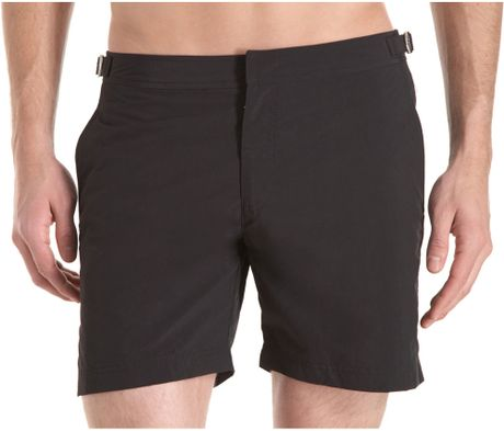 Orlebar Brown Buckle Swim Trunk in Black for Men - Lyst
