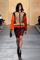 Proenza Schouler Fall 2012 Fur Trimmed Fold Over Clutch  - Lyst