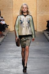 Proenza Schouler Fall 2012 Fur Trimmed Fold Over Clutch in Brown - Lyst