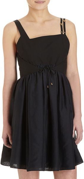 Proenza Schouler Sleeveless Baby Doll Dress in Black - Lyst