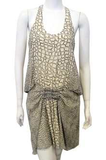 Proenza Schouler Sleeveless Tie Front Tank Dress in White Croc - Lyst