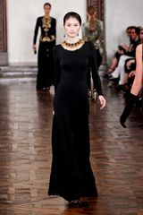 Ralph Lauren Fall 2012 High Waisted Palazzo Pants  in Black - Lyst