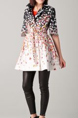 RED Valentino Floral Coat - Lyst