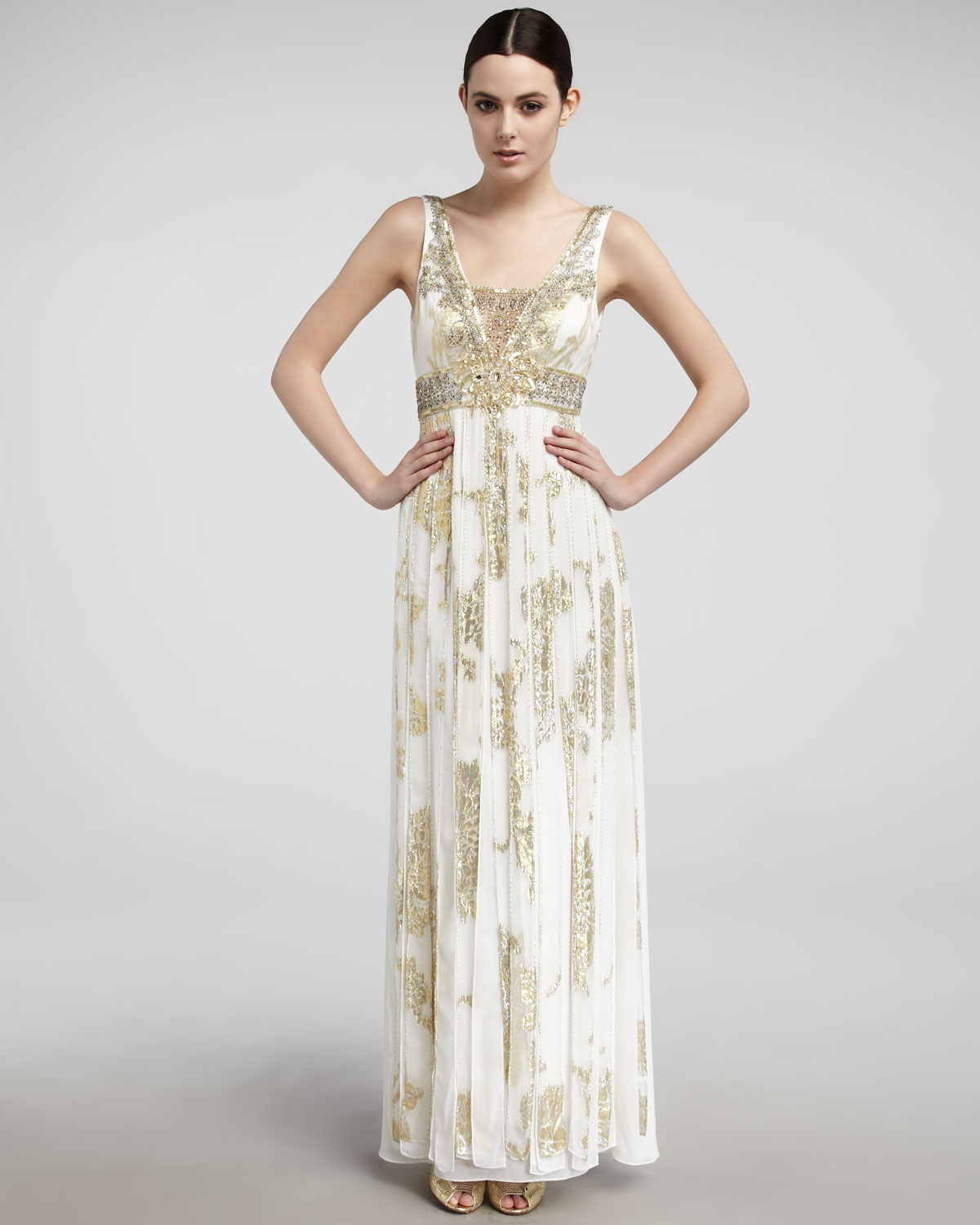 Metallic Ivory Dress