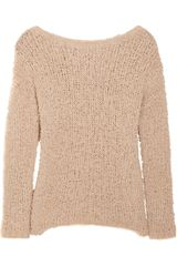 Vince Frayed Open-knit Cotton-blend Sweater - Lyst