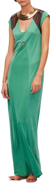 Vpl Sleeveless Dress in Green - Lyst