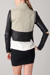Yigal Azrouel Lambskin Jacket with Elbow Vents in Black (jet) - Lyst