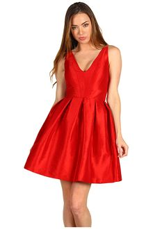 Z Spoke by Zac Posen Str Taffeta V Dress - Lyst