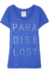 Zoe Karssen Paradise Lost Cotton and Modal-blend T-shirt - Lyst