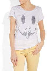 Zoe Karssen Smiley Face Cotton and Modal-blend T-shirt - Lyst