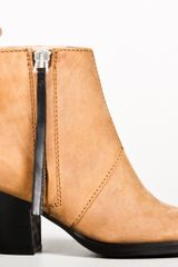 Acne Wood Pistol Short Boot in Brown (oak) - Lyst