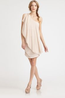 Alice + Olivia Oneshoulder Drape Dress - Lyst